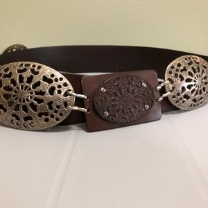 Chico's Leather Bohemian Link Belt